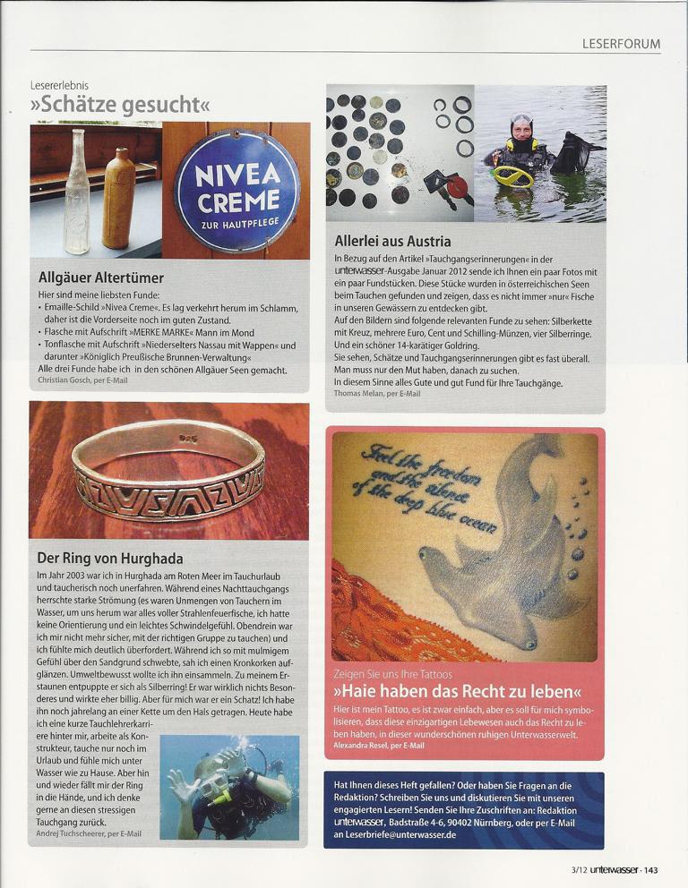 Tauchmagazin UNTERWASSER Ausgabe März 2012
